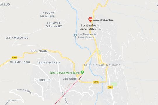 location saint-gervais plan google map